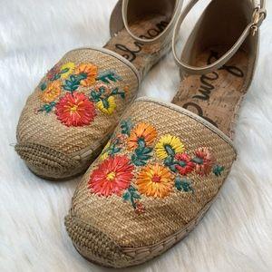 Sam Edelman JEMMIE Floral Espadrille Size 10.5